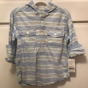 Carter's Shirts & Tops - NWT Carter's button-down with hood